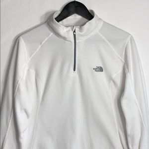 The North Face Women's White 1/4 Zip Up Sweater